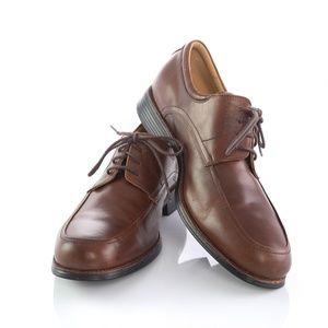 Johnston Murphy Brown Sheepskin Derby Dress Shoes
